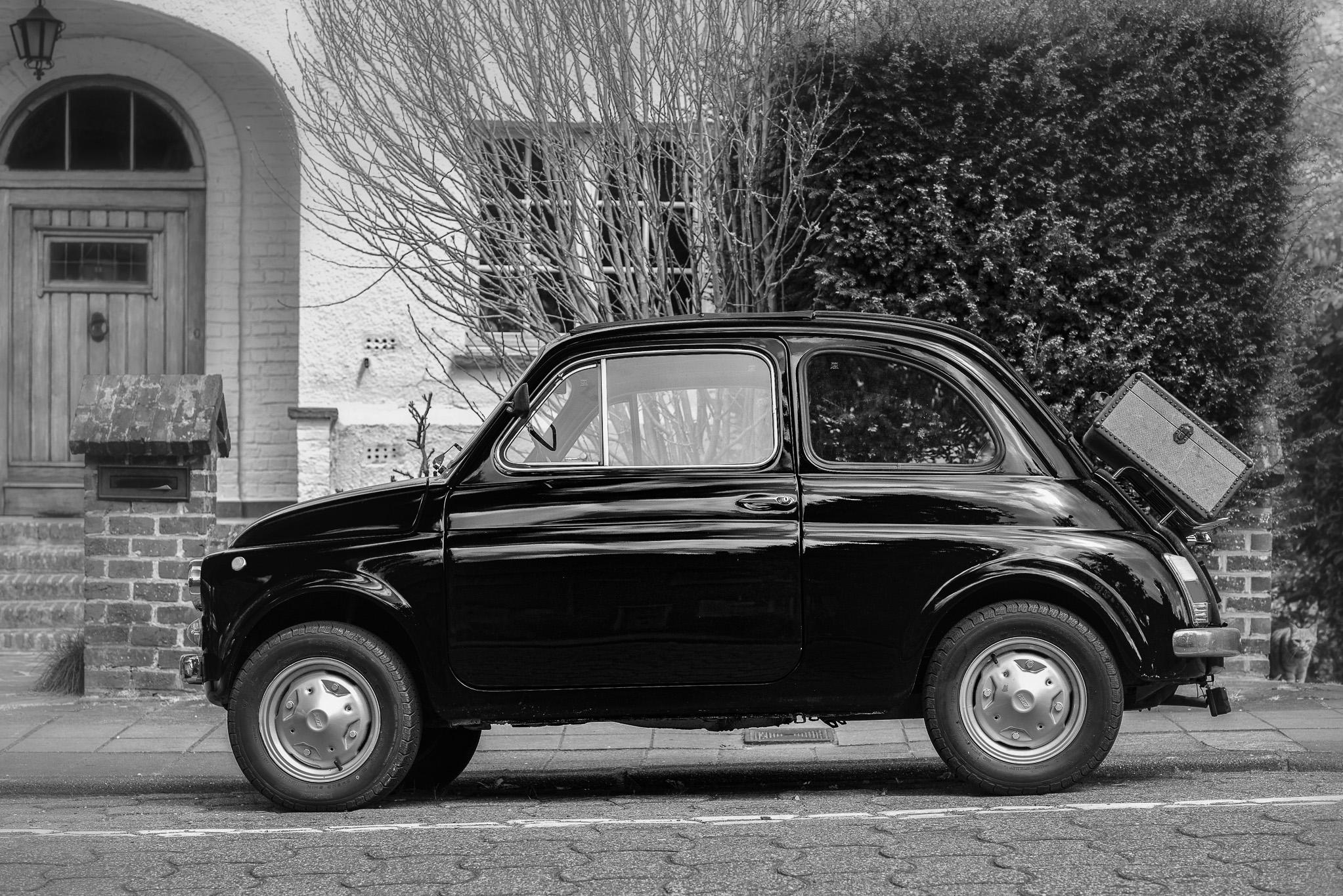 Fiat 500 dans les rues de Bruxelles